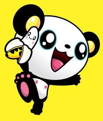 panda chibi avec 1 banane