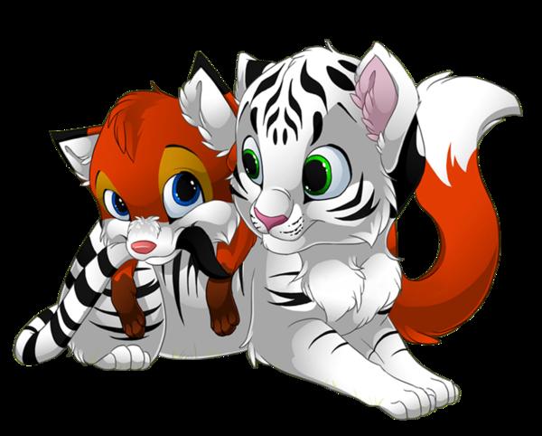 Tigre blanc renardeau manga - Animaux manga ...