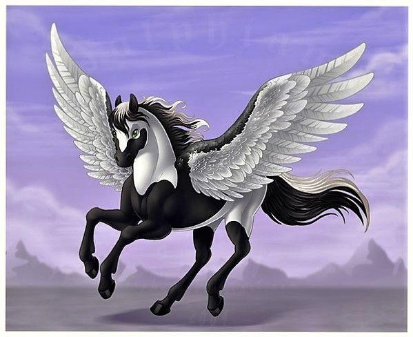 Cheval ail manga noir blanc - Dessin anime des chevaux ...